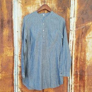 ANTHROPOLOGIE Nuthatch cotton tunic dress stripe